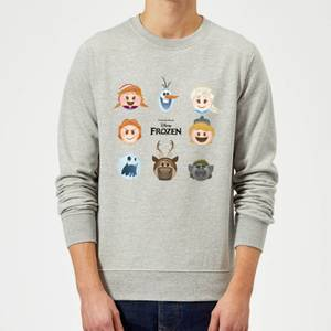 Disney Frozen Emoji Heads Sweatshirt - Grey