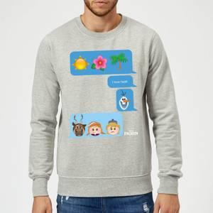 Disney Frozen I Love Heat Emoji Sweatshirt - Grey