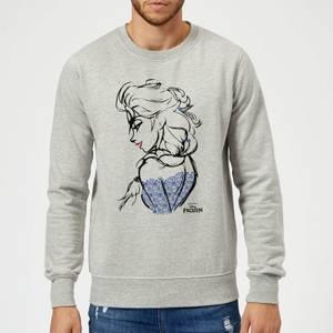 Disney Frozen Elsa Sketch Sweatshirt - Grey
