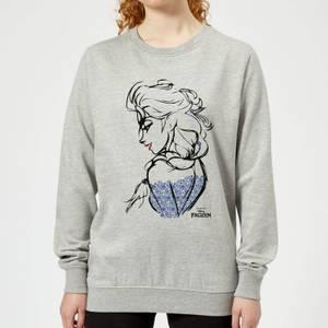 Disney Frozen Elsa Sketch Women's Sweatshirt - Grey