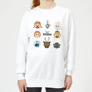 Sweat Femme La Reine des Neiges - Emoji - Blanc