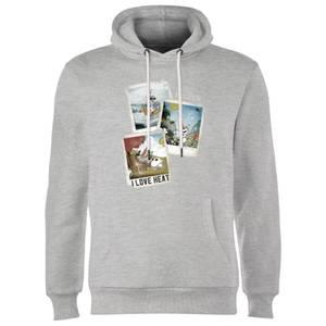 Die Eiskönigin Olaf Polaroid Hoodie - Grau
