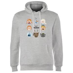 Die Eiskönigin Emoji Heads Hoodie - Grau