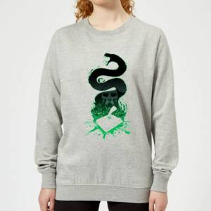 Harry Potter Basilisk Silhouette Women's Sweatshirt - Grey