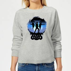 Harry Potter Silhouette Attack Women's Sweatshirt - Grey