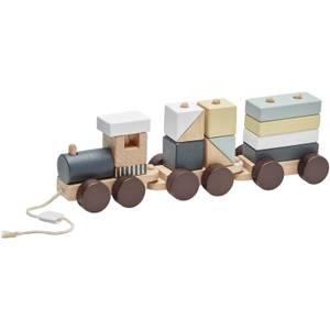 Kids Concept Block Train - Natural