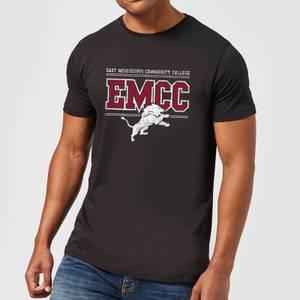 East Mississippi Community College Distressed Lion Men's T-Shirt - Black