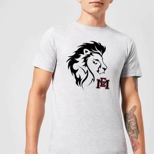 East Mississippi Community College Lion Head and Logo Men's T-Shirt - Grey