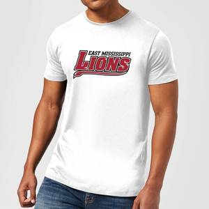 East Mississippi Community College Lions Script Logo Men's T-Shirt - White
