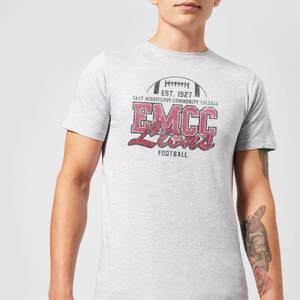 East Mississippi Community College Lions Distressed Men's T-Shirt - Grey