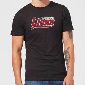 East Mississippi Community College Lions Script Logo Men's T-Shirt - Black