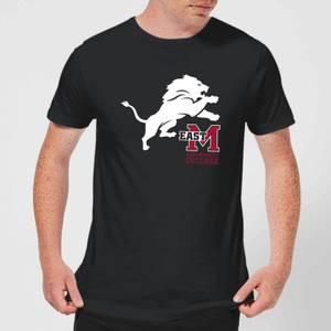 T-Shirt Homme Lion et Logo - East Mississippi Community College - Noir