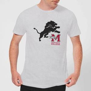 East Mississippi Community College Lion and Logo Men's T-Shirt - Grey