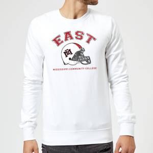 East Mississippi Community College Helmet Sweatshirt - White