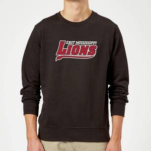 Sweat Homme Logo Lions Script - East Mississippi Community College - Noir