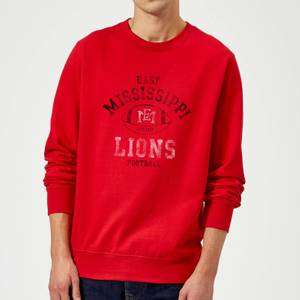 Sweat Homme Lions Football Effet Abîmé - East Mississippi Community College - Rouge