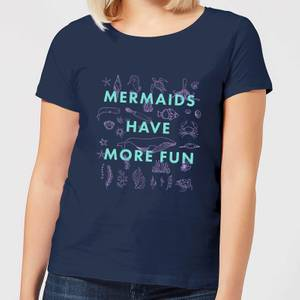 Mermaids Have More Fun Women's T-Shirt - Navy