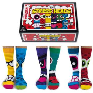United Oddsocks Men's The Stressheads Socks Gift Set