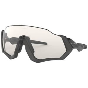Oakley Flight Jacket Photochromic Sunglasses - Grey Ink/Clear Black