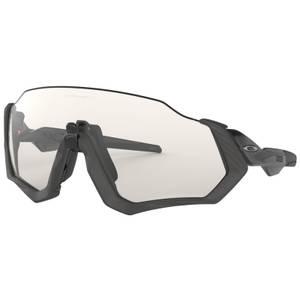 Oakley Flight Jacket Photochromic Sonnenbrille - Graue Tinte / Durchsichtiges Schwarz