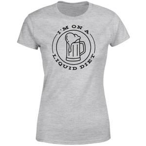 Liquid Diet Bier Frauen T-Shirt – Grau