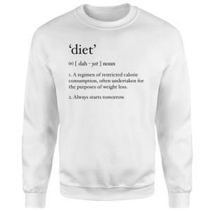 Dictionary Diet Sweatshirt - White