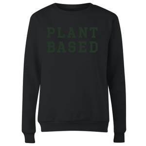 Plant Based Women's Sweatshirt - Black