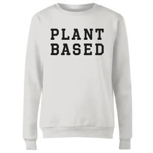 Plant Based Women's Sweatshirt - White