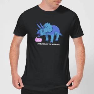 RAWR! It Means I Love You Men's T-Shirt - Black