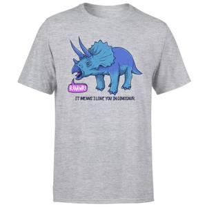 Rawr It Means I Love You Men's T-Shirt - Grey