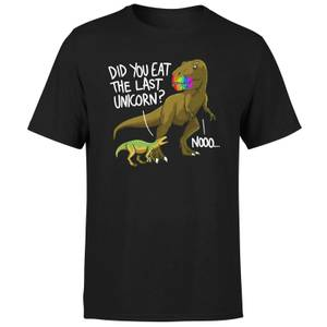 Dinosaur Unicorn Men's T-Shirt - Black