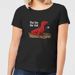 Row Row Row Your Boat Women's T-Shirt - Black