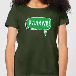 Raaawr Women's T-Shirt - Forest Green