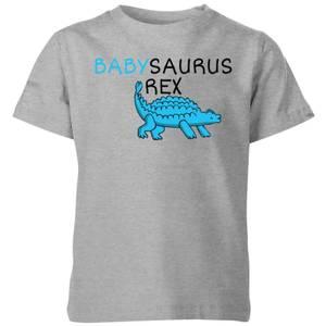 Babysaurus Rex Kids' T-Shirt - Grey