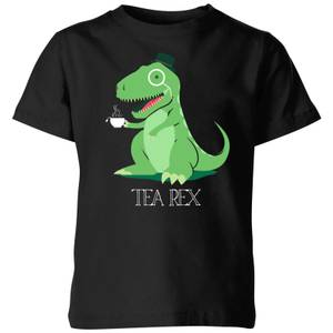 Tea Rex Kids' T-Shirt - Black