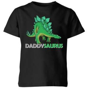 Daddysaurus Kids' T-Shirt - Black