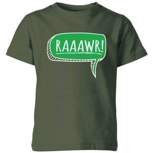 Raaawr Kids' T-Shirt - Forest Green