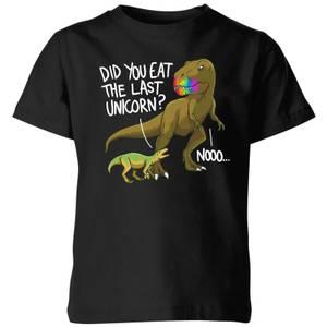 Dinosaur Unicorn Kids' T-Shirt - Black