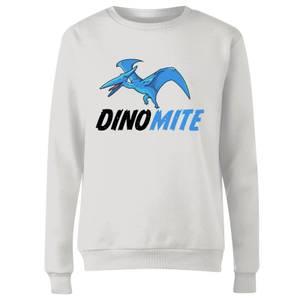Dino Mite Women's Sweatshirt - White