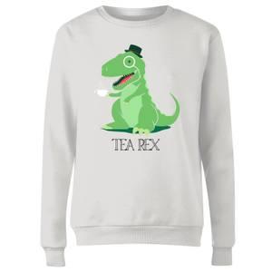 Tea Rex Women's Sweatshirt - White