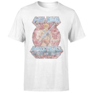 He-Man Faded Men's T-Shirt - White