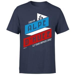 ALPE D'HUEZ メンズ T-シャツ - ネイビー