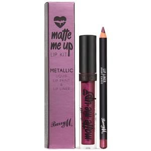 Barry M Cosmetics Matte Me Up Metallic Lip Kit (Various Shades)