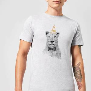 Balazs Solti Party Lion Men's T-Shirt - Grey