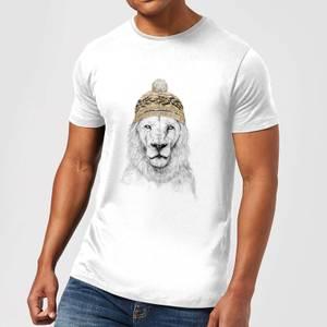 Balazs Solti Lion With Hat Men's T-Shirt - White