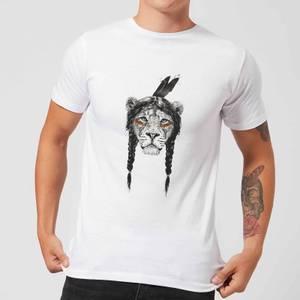 Balazs Solti Native Lion Men's T-Shirt - White
