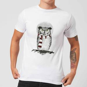 Balazs Solti Owl And Moon Men's T-Shirt - White