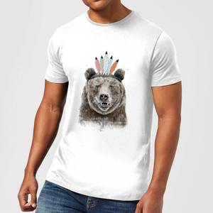 Balazs Solti Native Bear Men's T-Shirt - White