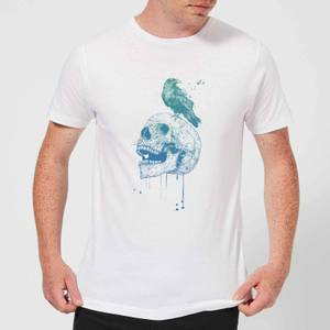 Balazs Solti Skull And Crow Men's T-Shirt - White