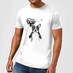 Balazs Solti Bulldog And Balloon Men's T-Shirt - White